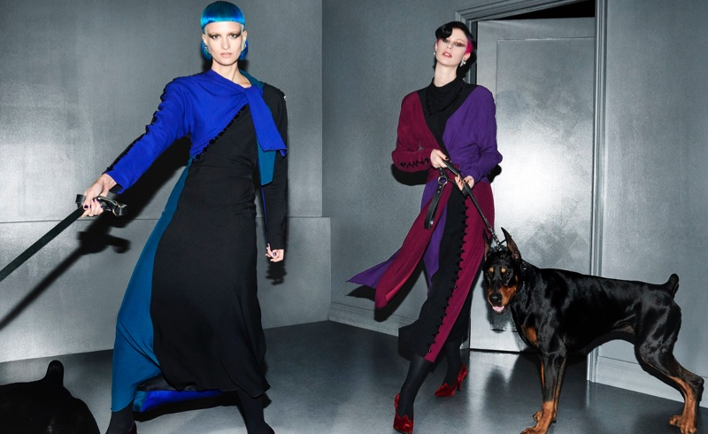 Veronika Vilim and Sarah Abney star in Marc Jacobs fall-winter 2018 campaign