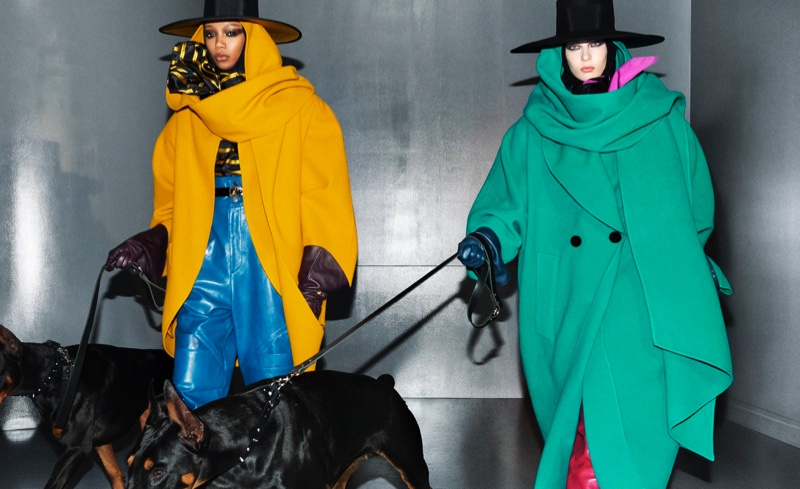 Hannah Shakespeare and Remington Williams appear in Marc Jacobs fall-winter 2018 campaign