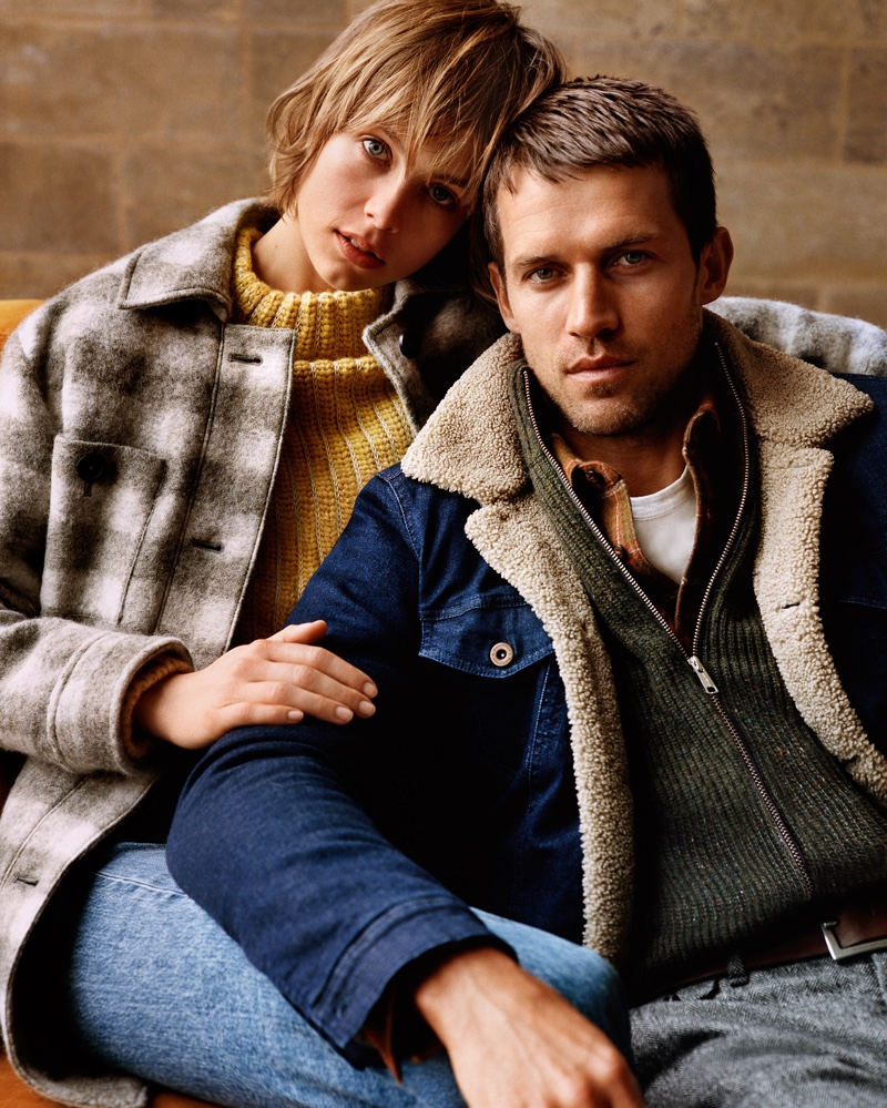Edie Campbell and Andrew Cooper star in Marc O'Polo fall-winter 2018  campaign