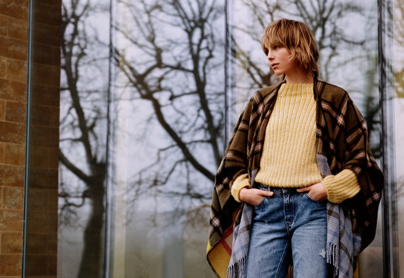 Edie Campbell appears in Marc O'Polo fall-winter 2018 campaign