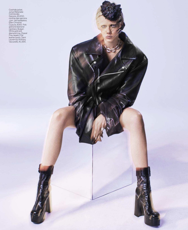 Marjan Jonkman Takes On Bold 1980's Fashion for ELLE