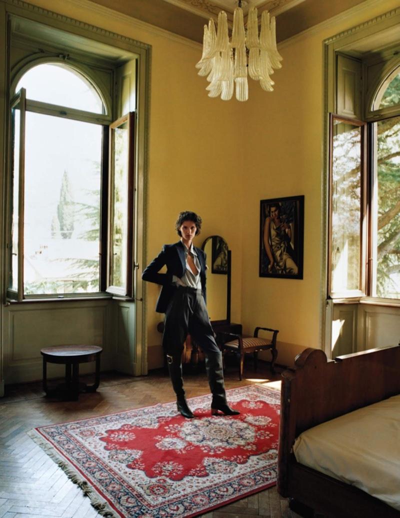 Marte Mei van Haaster Looks Effortlessly Chic in WSJ. Magazine