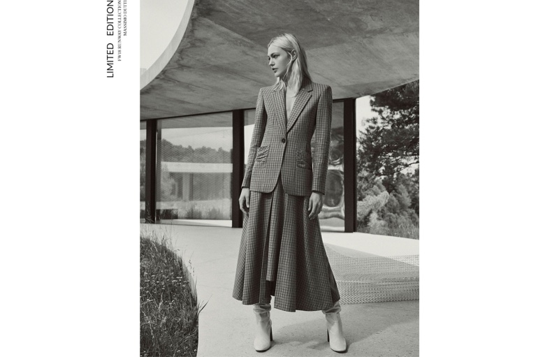 Sasha Pivovarova Models Massimo Dutti Fall '18 Limited Edition Collection