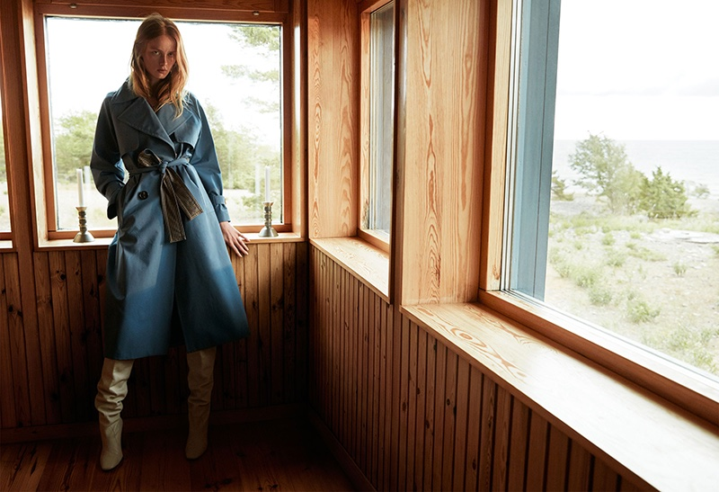 Rianne van Rompaey stars in Massimo Dutti fall-winter 2018 campaign