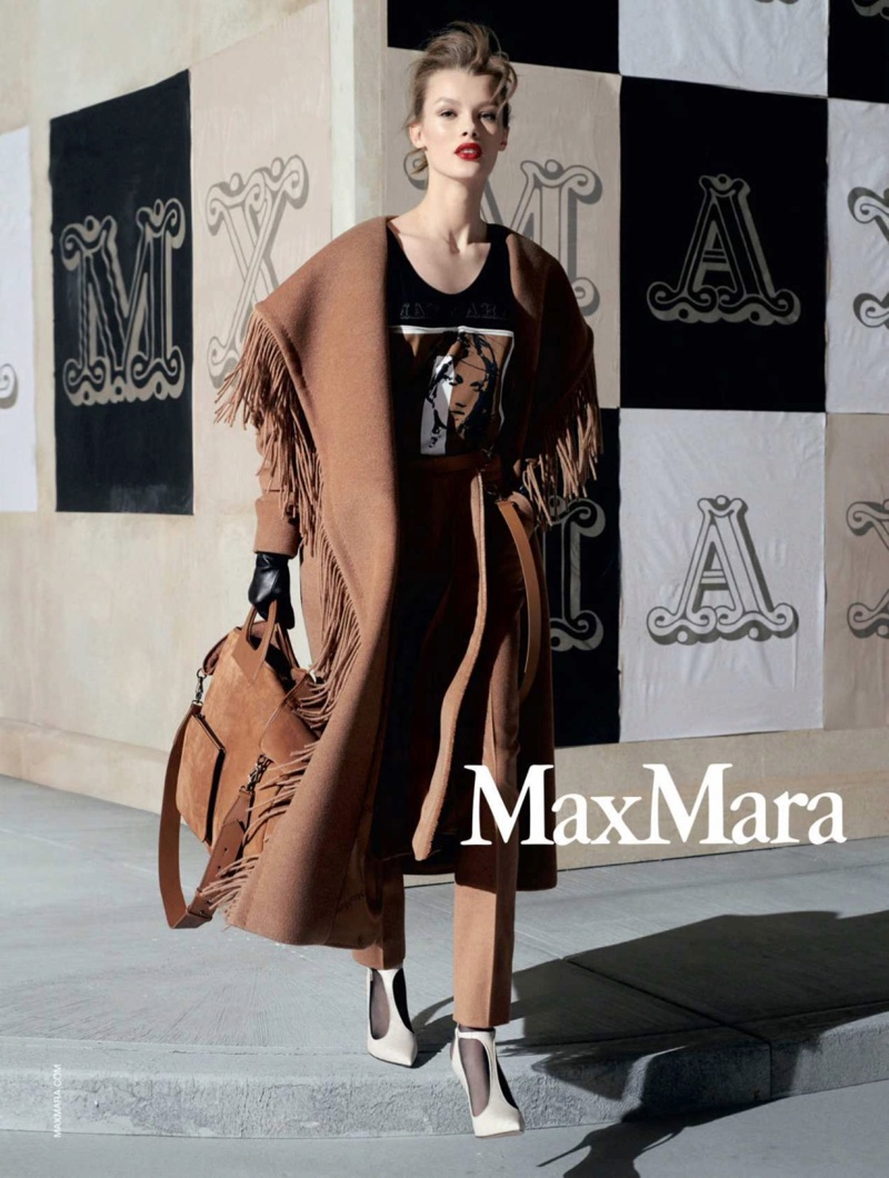 Kris Grikaite stars in Max Mara fall-winter 2018 campaign