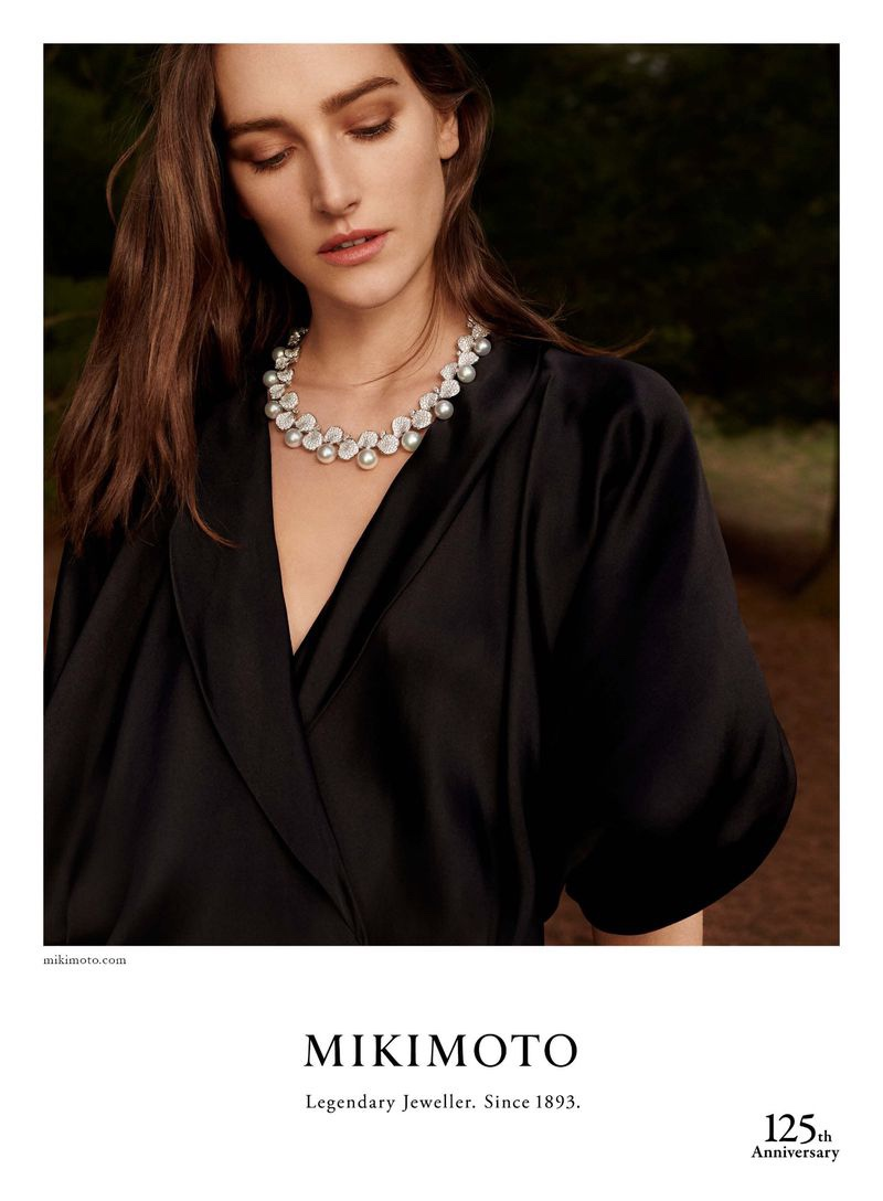 An image from the Mikimoto 2018-2019 campaign
