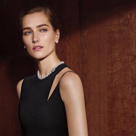 Josephine le Tutour stars in Mikimoto 2018-2019 campaign