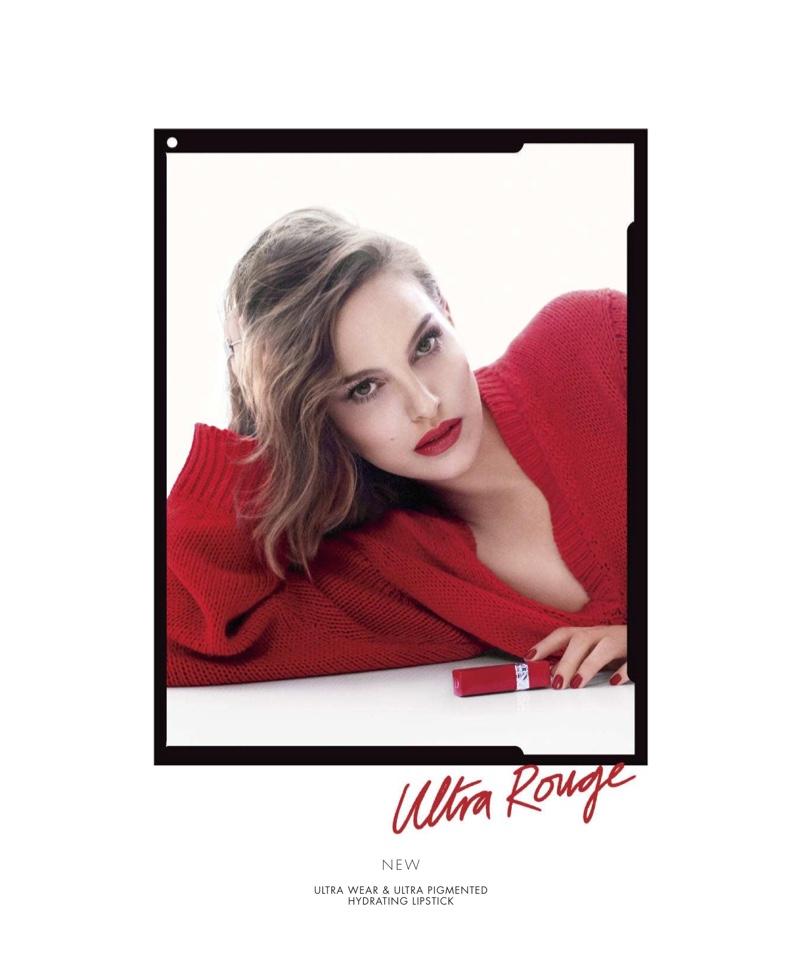 Actress Natalie Portman fronts Dior Rouge Ultra Rouge Lipstick campaign