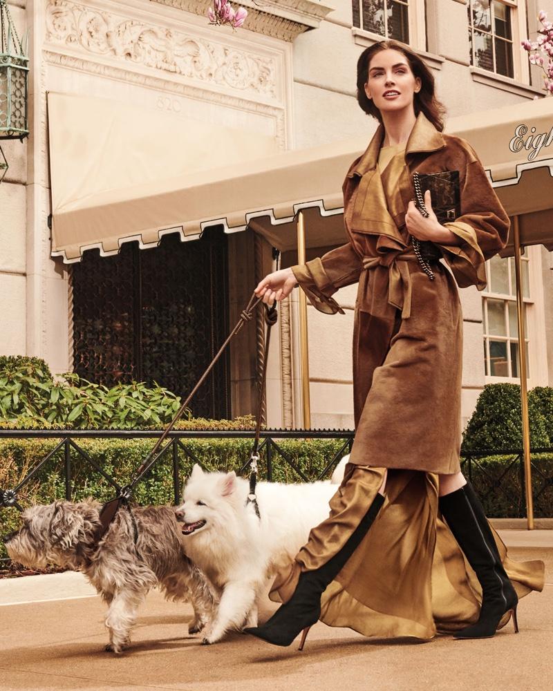 Akris Plunging Long Sleeve Side-Slit Draped Metallic Silk Evening Gown
