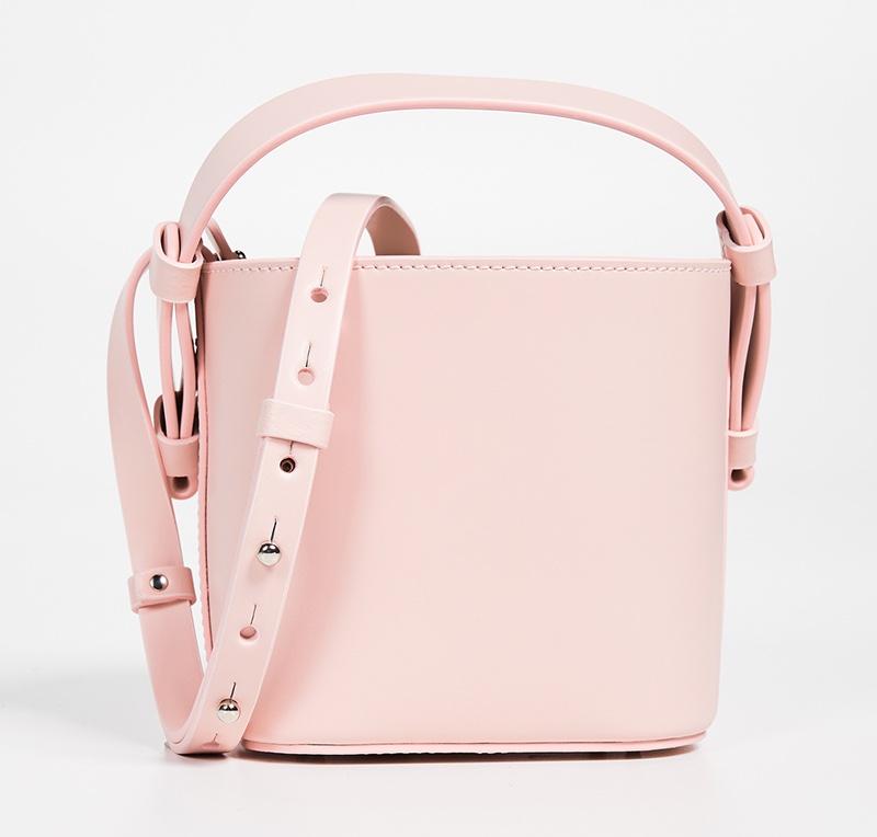 Nico Giani Adenia Mini Bucket Bag in Pale Pink $315