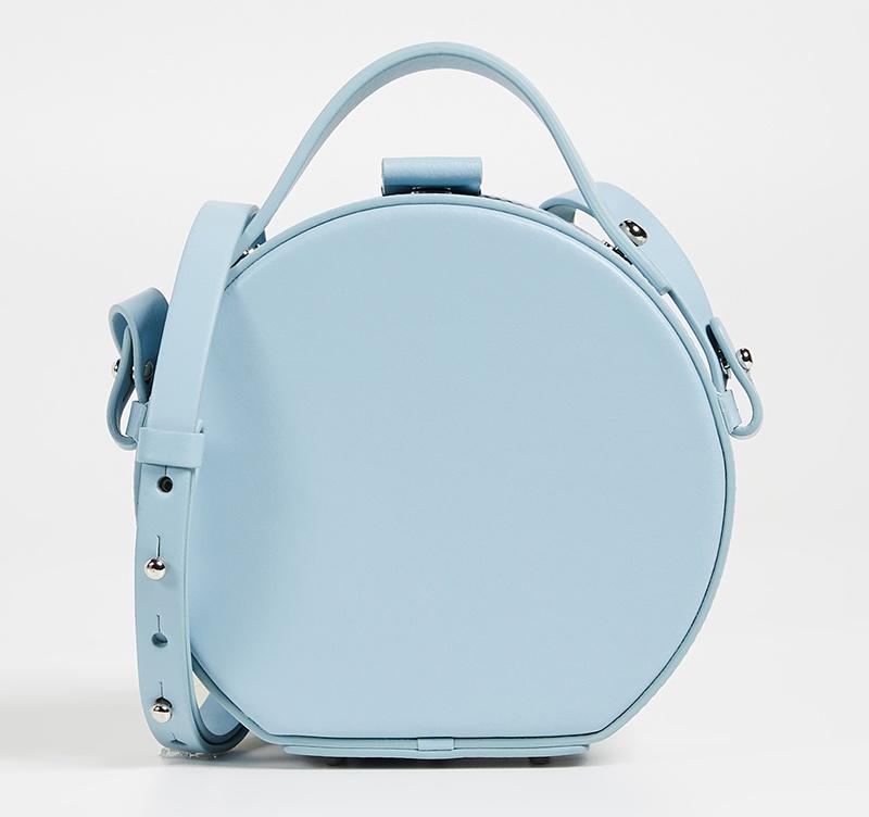 Nico Giani Tunilla Mini Circle Bag in Light Blue $465