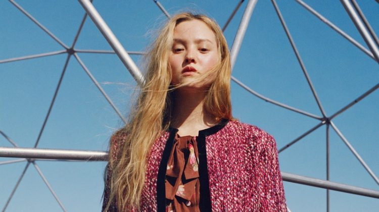 Devon Aoki wears Gucci in Nordstrom fall 2018 campaign