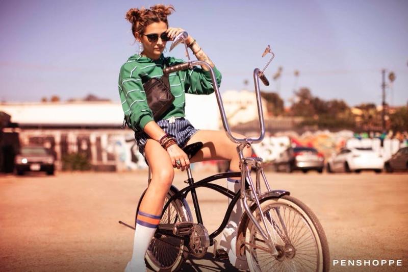 Posing on a bike, Paris Jackson fronts Penshoppe pre-holiday 2018 campaign