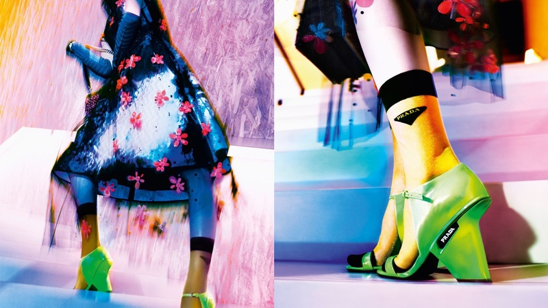 Prada focuses on neon for 365 Ultravision fall 2018 campaign