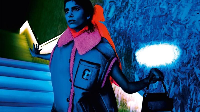 Mica Argañaraz stars in Prada 365 Ultravision fall 2018 campaign