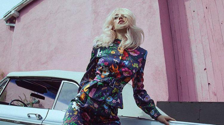Pyper America Smith Poses in Retro Looks for Vogue Russia