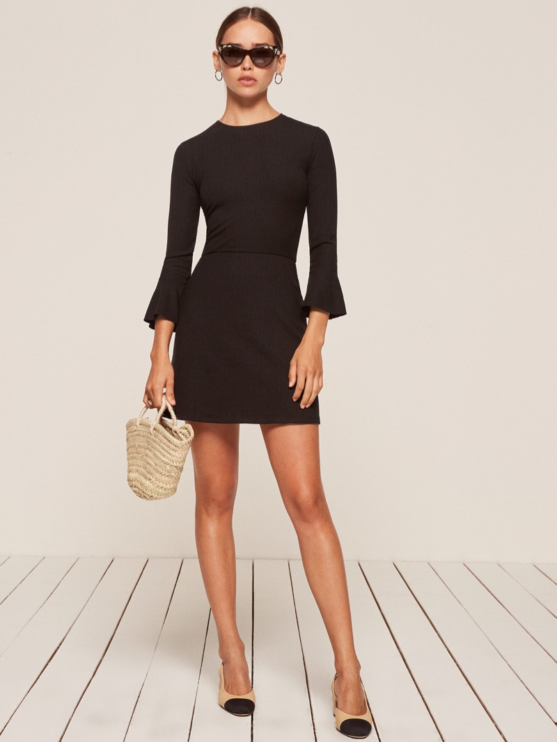 Reformation Anise Dress in Black $83 (previously $118)