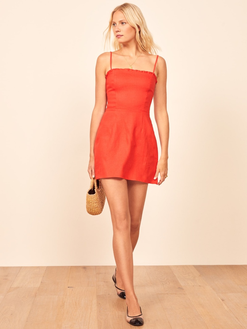 Reformation Ava Dress in Hot Day $133.50 (previously $178)