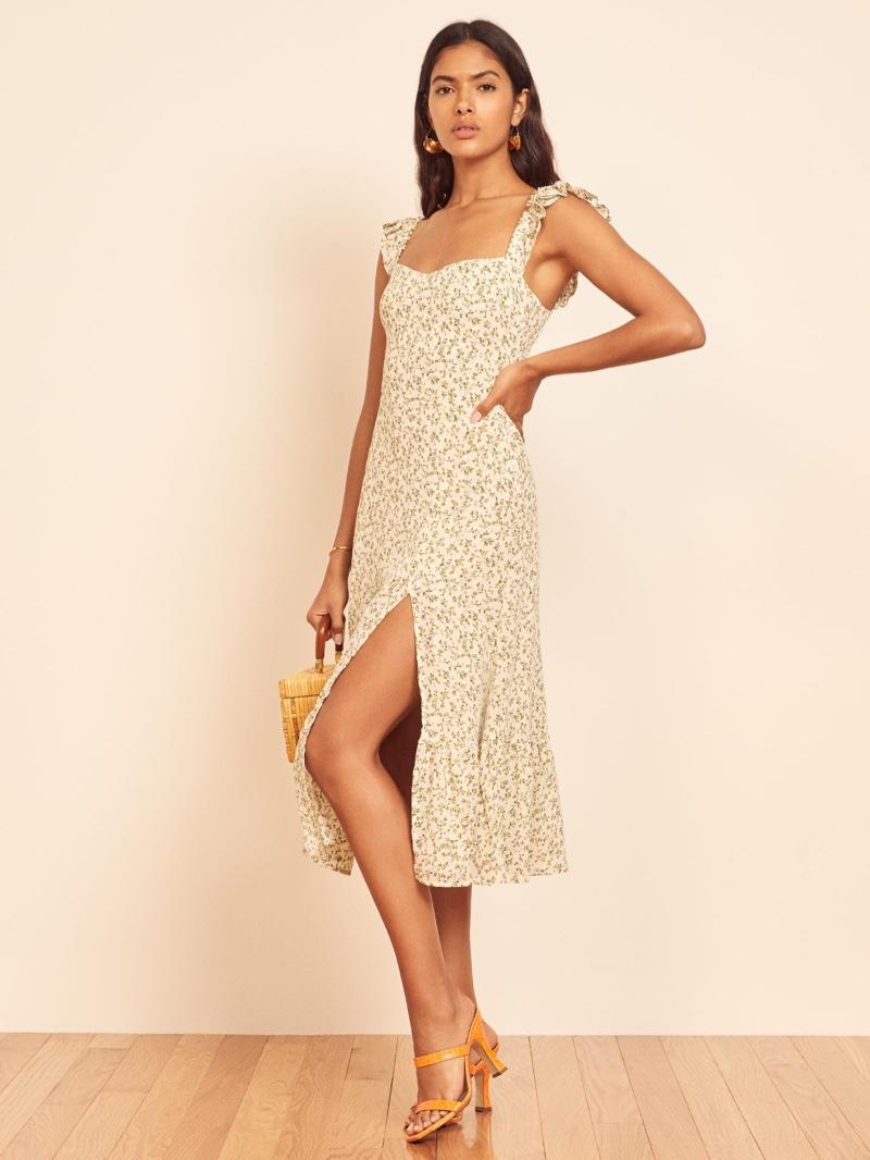 Reformation Bondi Dress in Ivy $248