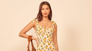 Reformation Christine Dress in Lemonade $218