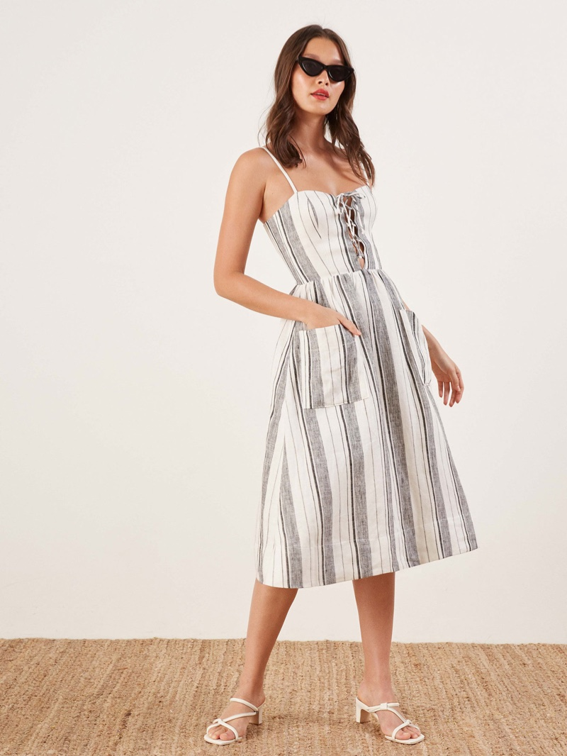 Reformation Ellen Dress in Louisiana Stripe $131 (previously $218)
