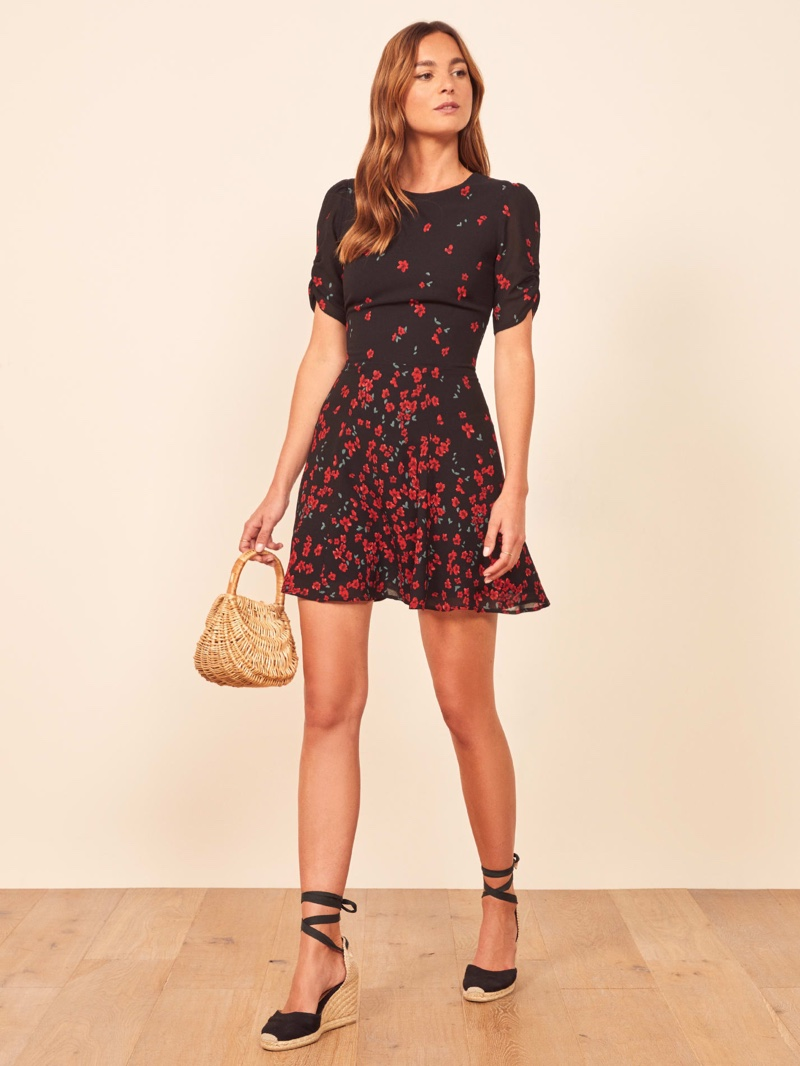 Reformation Gracie Dress in Oracle $158.40 (previously $198)