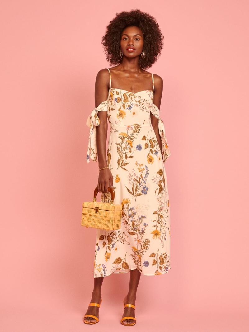 Reformation Mimosa Dress in Frolic $298