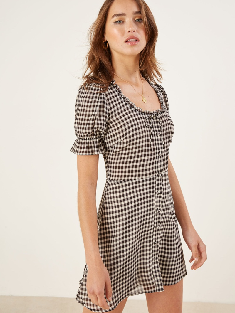 Reformation Page Dress in Checkers $119 (previously $198)