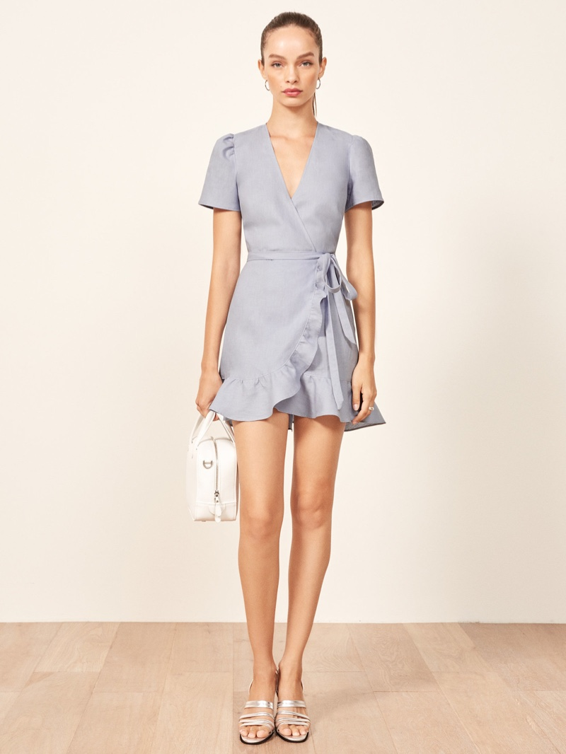 Reformation Sally Dress in Mineral $198