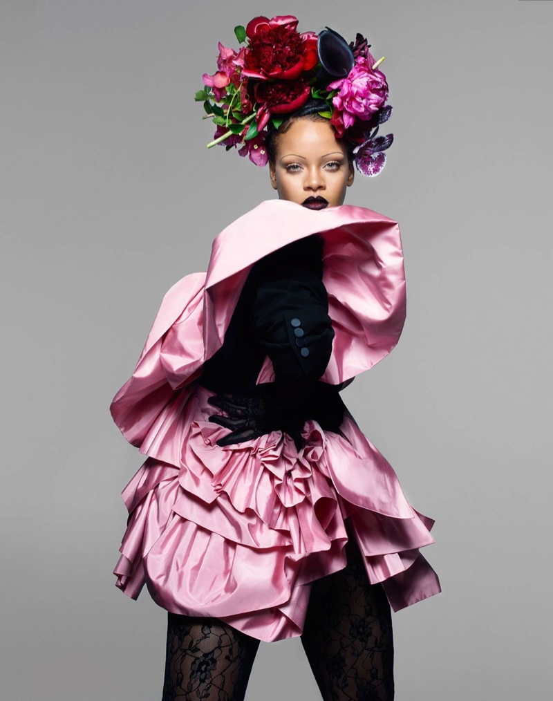 Rihanna Poses in Avant-Garde Looks for Vogue UK