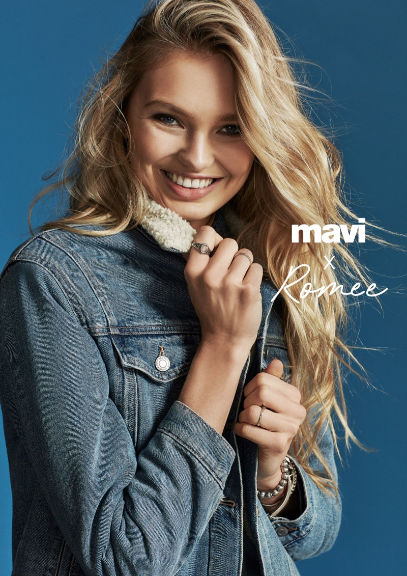 Romee Strijd is all smiles in Mavi fall-winter 2018 campaign