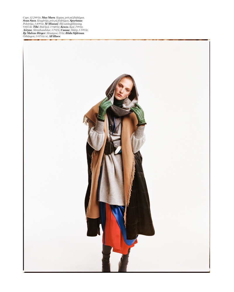 Ros Georgiou Layers Up in Chic Outerwear for ELLE Sweden