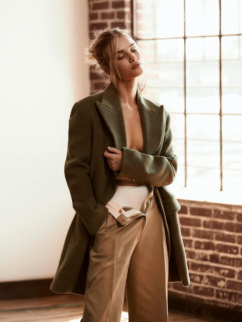 Rosie Huntington-Whiteley Poses in Relaxed Looks for PORTER Edit
