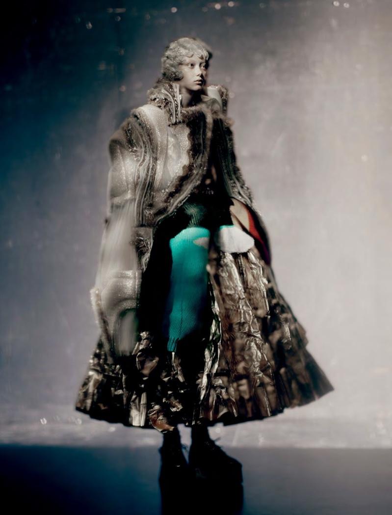 Sara Grace Wallerstedt Enchants in Comme des Garçons for Dazed Magazine