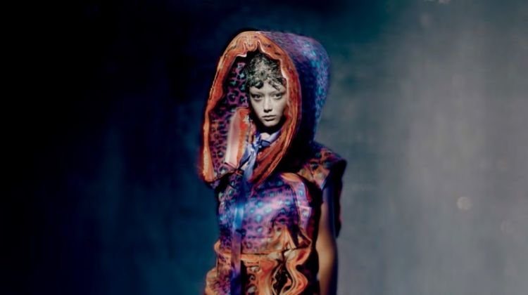 Sara Grace Wallerstedt Enchants in Comme des Garçons for Dazed Magazine