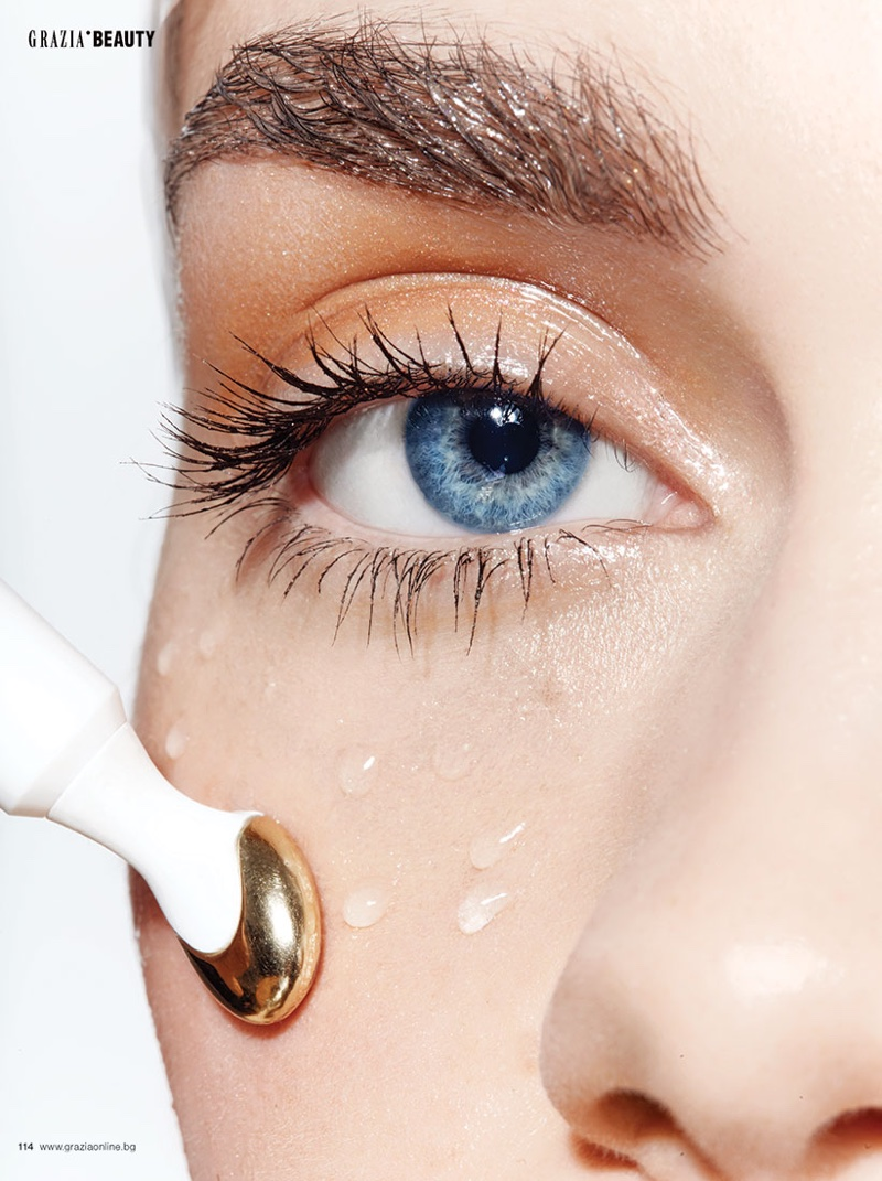 Silvia Keckesova Shows Off New Beauty Treatments for Grazia Bulgaria