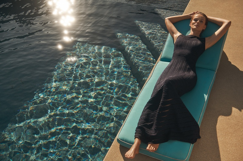 St. John focuses on a little black dress for its fall-winter 2018 campaign