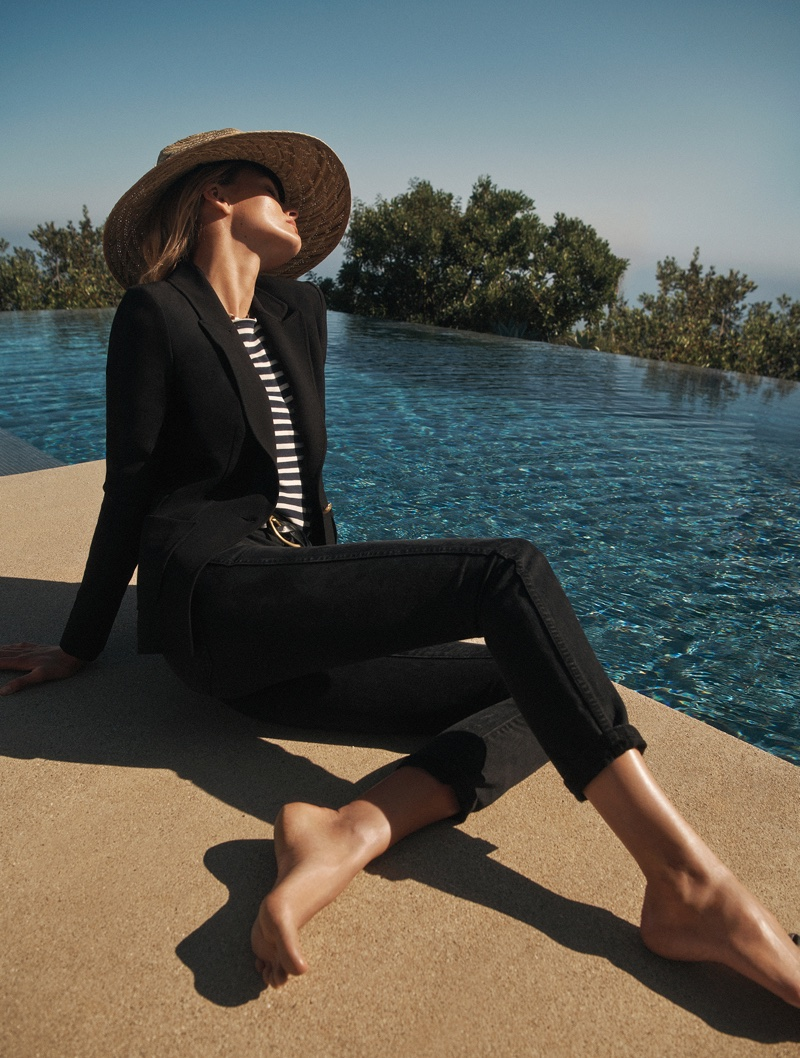 Model Edita Vilkeviciute appears in St. John fall-winter 2018 campaign
