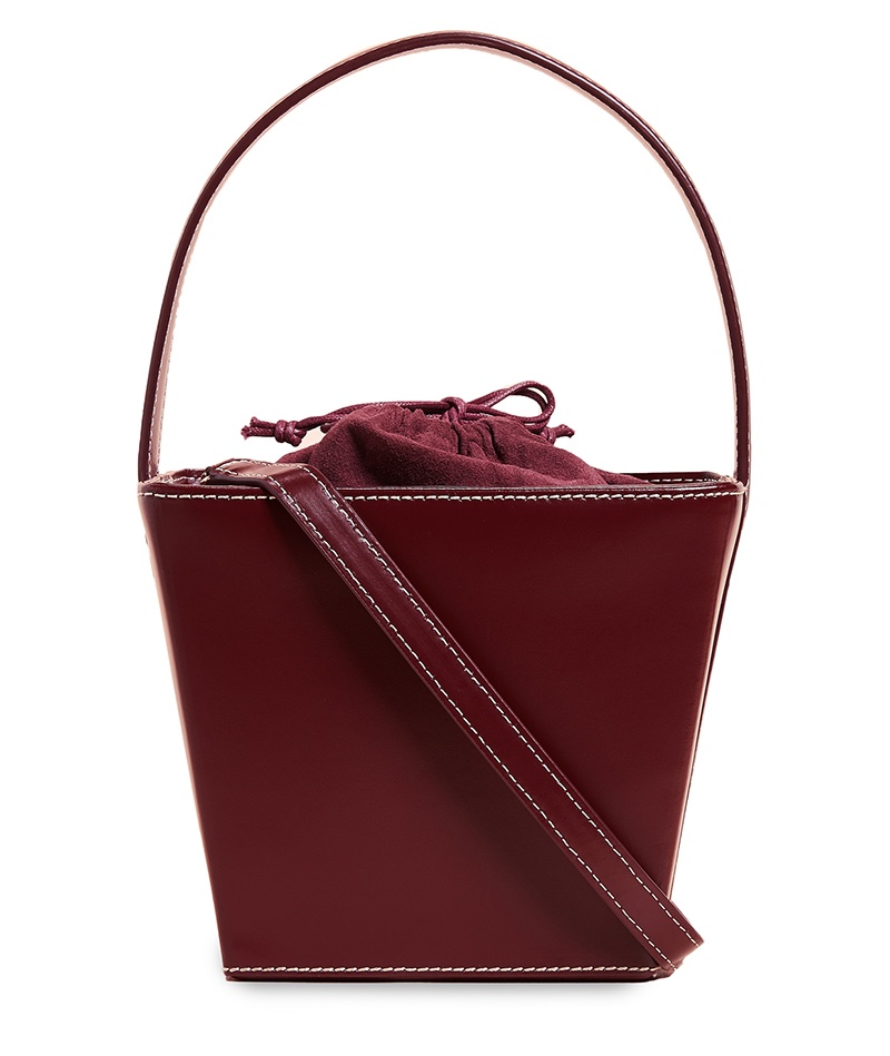 Staud Edie Bag in Bordeaux $350