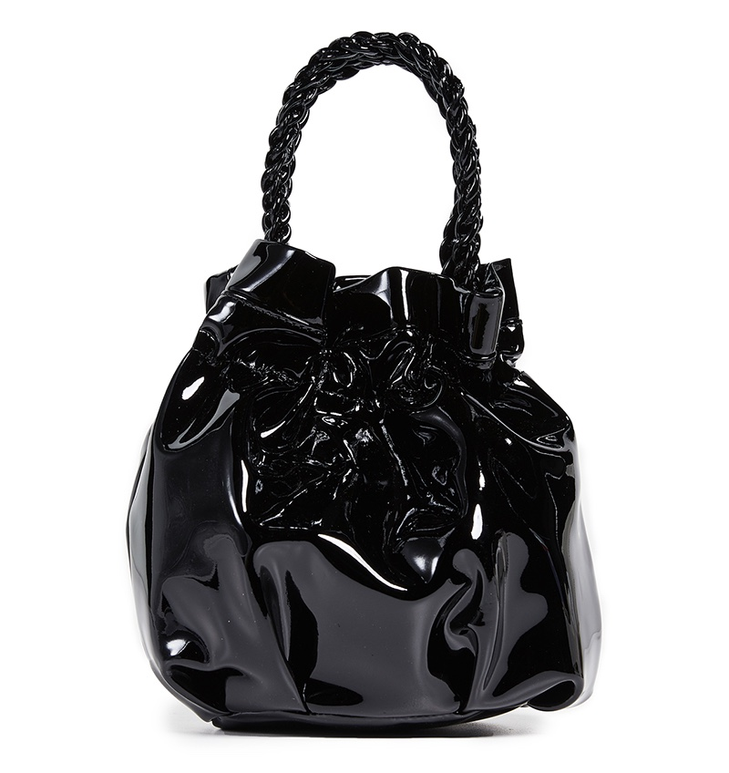 Staud Grace Patent Leather Bag in Black $275