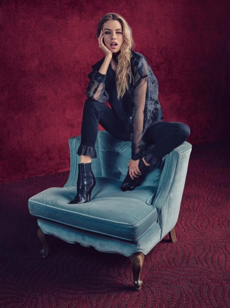 Stella Maxwell, Paloma Elsesser Exude Cool in 7 for All Mankind Fall '18 Campaign