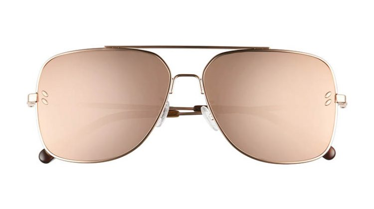 Stella McCartney 59mm Aviator Sunglasses in Gold $230.90 (previously $345.00)