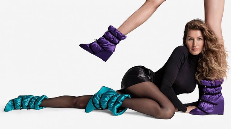 Gisele Bundchen flaunts some leg in Stuart Weitzman fall-winter 2018 campaign