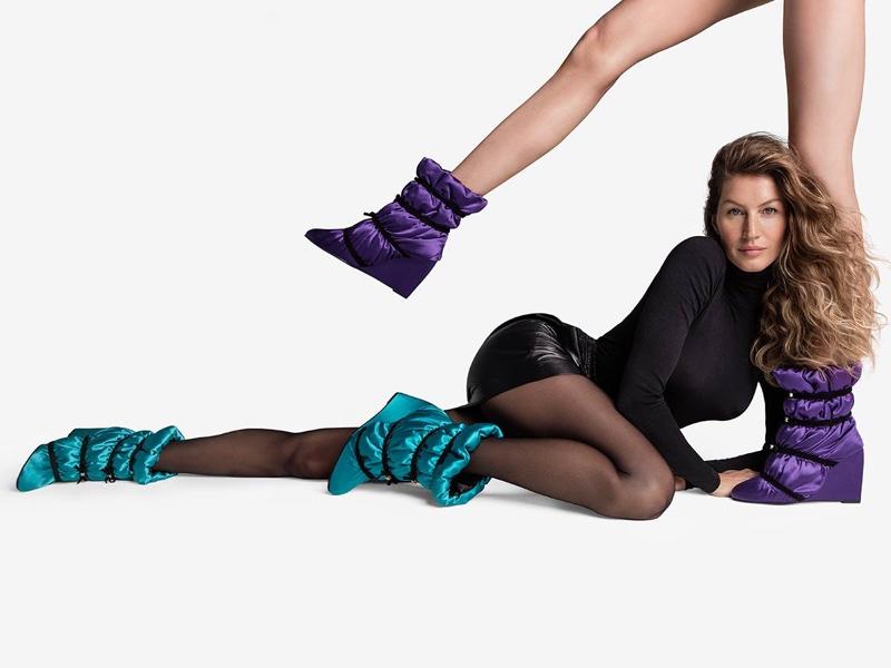 Gisele Bundchen flaunts some leg in Stuart Weitzman fall-winter 2018 campaign