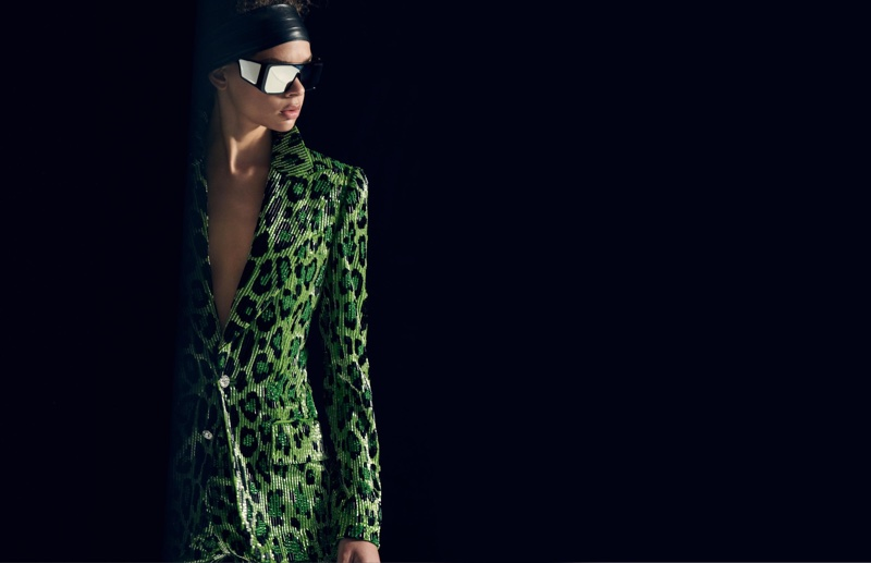 Hiandra Martinez suits up in Tom Ford fall-winter 2018 campaign