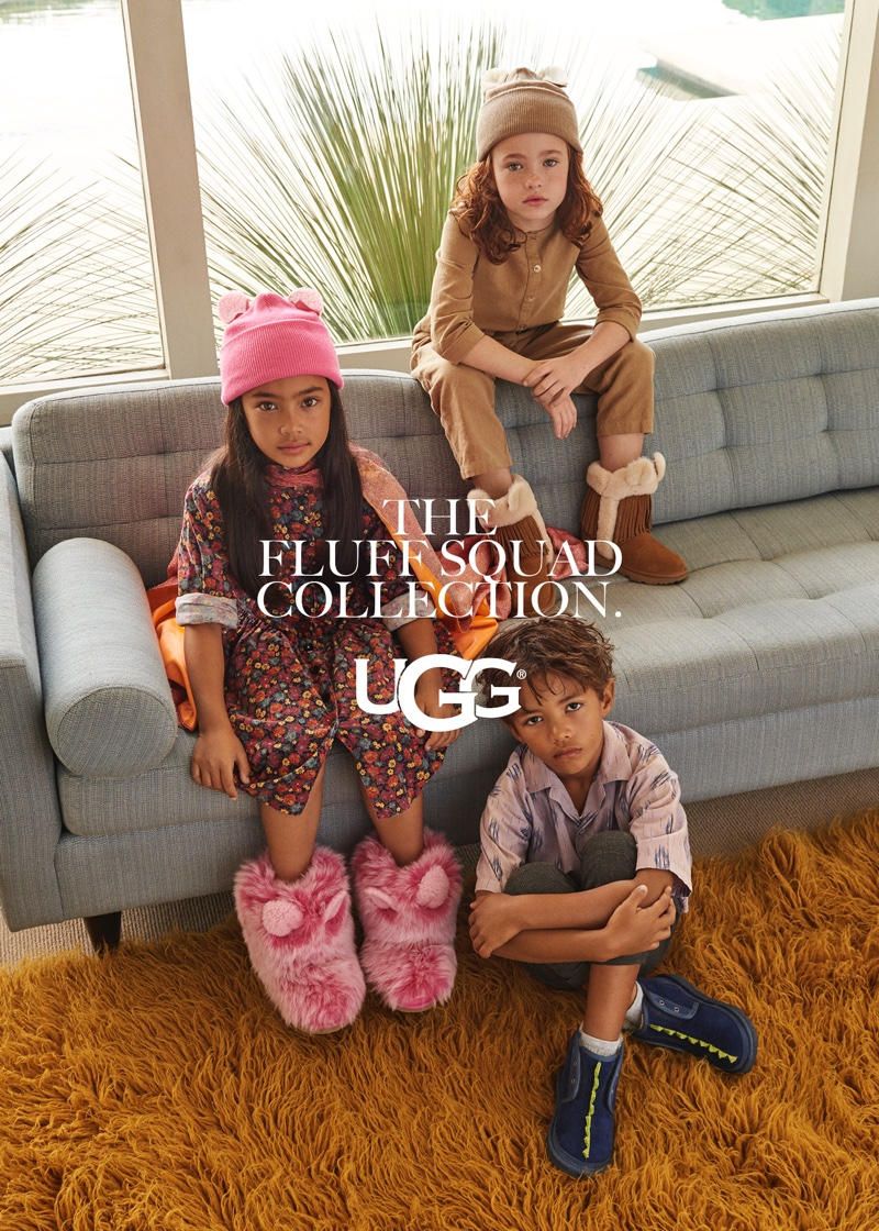 An image from the UGG fall-winter 2018 campaign featuring kids styles