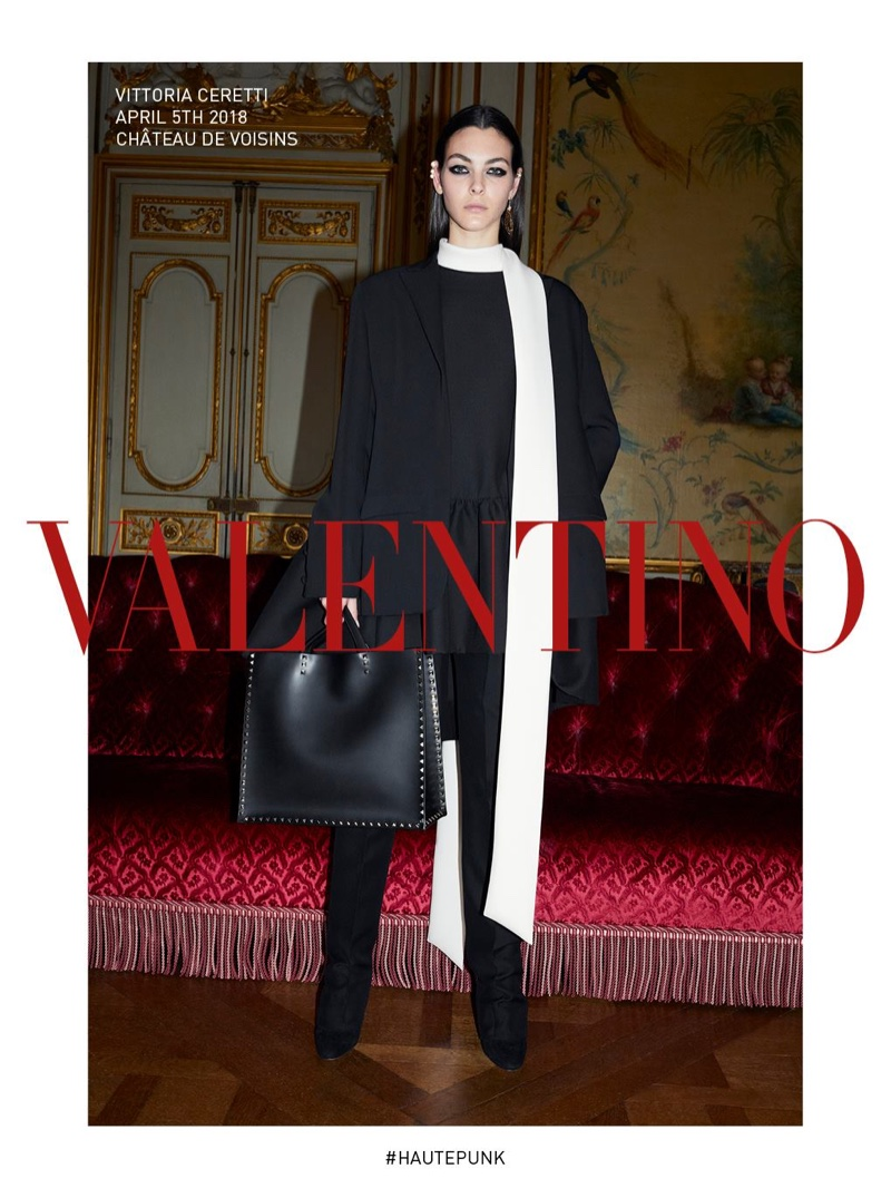Vittoria Ceretti stars in Valentino fall-winter 2018 campaign