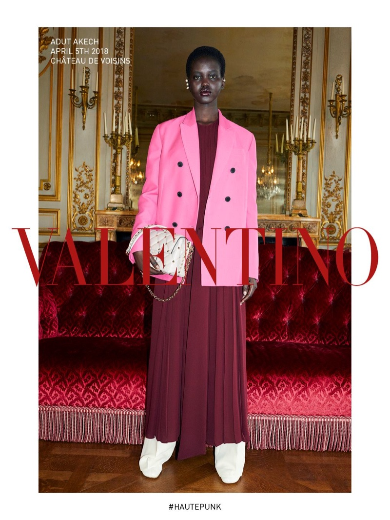 Adut Akech fronts Valentino fall-winter 2018 campaign