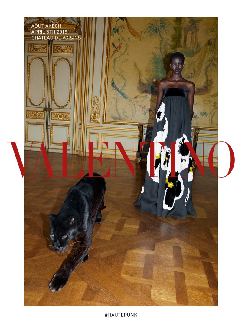 Adut Akech stars in Valentino fall-winter 2018 campaign