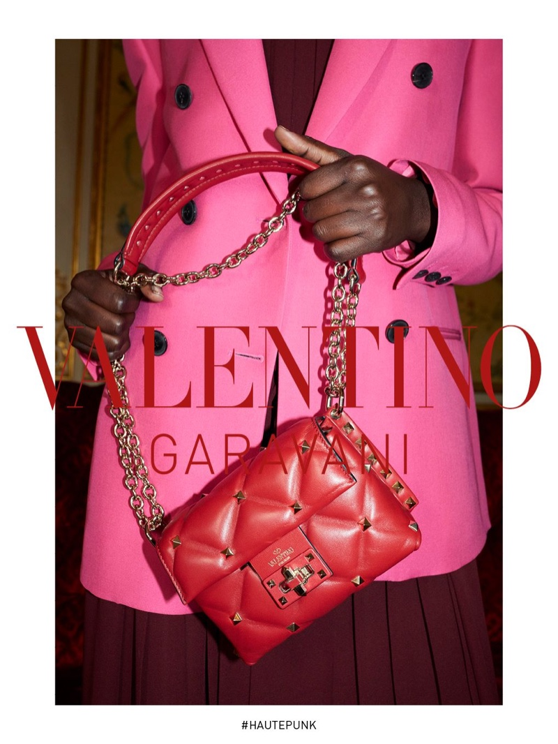 A quilted handbag from Valentino fall-winter 2018 campaign